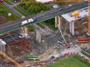 Werneck: Ermittler erwarten Gutachten zum Brückeneinsturz auf der A7