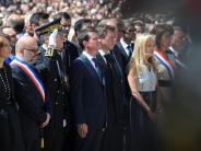 Terrorismus: Schweigeminute in Nizza: Stille für die Opfer – Pfiffe für die Regierung