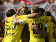 Fußball: BVB siegt gegen Mainz: Doppelpack von Aubameyang