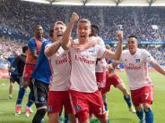 2:1 im Volksparkstadion: HSV startet Partymarathon nach 2:1-Rettung gegen Wolfsburg