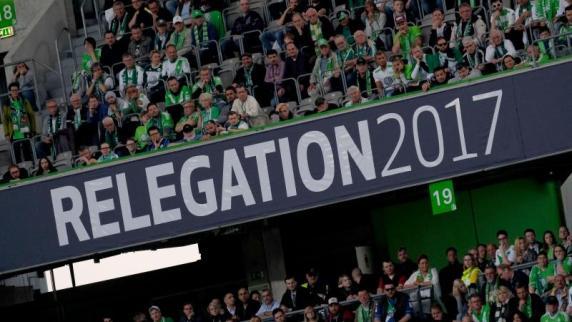 Fußball: Relegation: Verletzter Ordner nur kurz in Behandlung