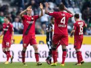 Kurioses Spiel: 1:5 - Gladbach: Beste Halbzeit, Bayer: Glücklicher Sieg
