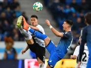 Später Treffer zum 1:1: Hoffenheim und Frankfurt bleiben nach Remis oben dran