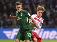 Werder-Stürmer nach Derby-Sieg: HSV-Experte Max Kruse: «Fühlt sich überragend an»