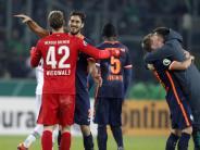 Fußball: Gruppenbild mit Jubel - Lob für Werder-Coach Skripnik
