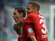 Fußball: Elfer-Krimi: Frankfurt siegt mit Glück in Magdeburg