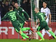 DFB-Pokal: Auch Bremen im Pokal-Viertelfinale - 3:2 gegen SC Freiburg