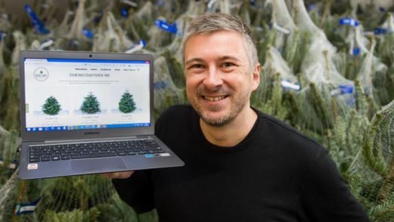 internet surfen statt schleppen weihnachtsbaum online. Black Bedroom Furniture Sets. Home Design Ideas
