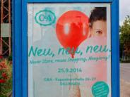 Verwechslung: An der Saar hängen Plakate für C&A an der Donau