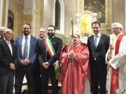Einweihung: Dillinger bei der Wiedereröffnung des Doms in Bondeno