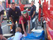 Höchstädt: Feuerwehren zeigen beim Herbstmarkt Flagge