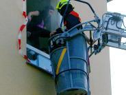 Aktionswoche: Brand: Rettung von Schülern aus Klassenzimmern geübt