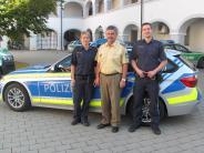 Polizei: Die Polizei im Landkreis stellt auf Blau um