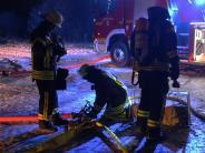 Feuerwehreinsatz: Brand bei Bächingen: Erst nach 17 Stunden endete der Einsatz
