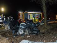 Polizeireport: 23-Jähriger stirbt nach schwerem Unfall bei Dillingen