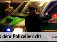 Bächingen: Mit Kanaldeckel Tür eines Geschäfts eingeworfen
