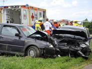 Kreis Dillingen: 27-Jähriger gerät auf Gegenfahrbahn: Vier Verletzte