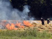 Lauingen/Holzheim: In Lauingen und Holzheim brannten Felder