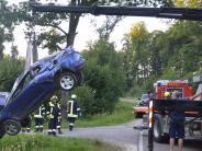 Medlingen/Sachsenhausen: Junger Autofahrer wird schwer verletzt