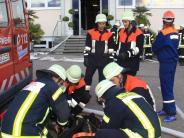 "Feuerwehr-Aktionswoche: ""Großbrand"" bei Erwin Müller in Buttenwiesen"
