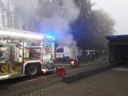 Dillingen: Lieferwagen brennt in Dillingen aus