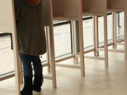 Kommunalwahlen 2014: Wenige Wähler in den Wahllokalen