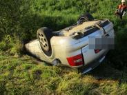 Rögling: Auto landet auf Dach in der Gailach