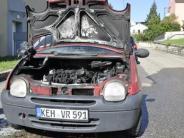 : Motorbrand beim Anlassen