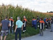 Wolferstadt: Nach Anschlägen auf Maishäcksler: Feuerwehr durchkämmt Maisfelder