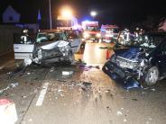 Möttingen/Donauwörth: Frontalzusammenstoß: Fünf Verletzte