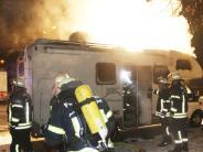 Nördlingen: Toter bei Brand von Wohnmobil