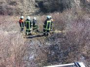 Otting/Fünfstetten: Defekt an Güterzug setzt Böschung in Brand