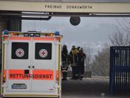 Donauwörth: Großalarm im Freibad: Arbeiter stürzt von Gerüst in leeres Schwimmbecken