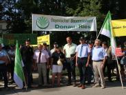 Demonstration: Geballter Widerstand gegen einen Nationalpark