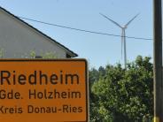 Holzheim-Riedheim: Keine weiteren Lärmmessungen am Windpark