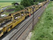 Bahn: Gleissanierung zwischen Donauwörth und Augsburg