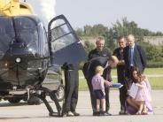 Besuch: Prominente Hubschrauber-Fans
