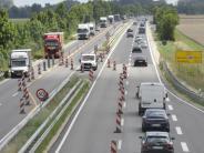 Mertingen: B2 ist in Richtung Augsburg wieder zweispurig befahrbar