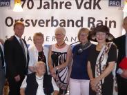 Soziales: VdK Rain feiert 70-jähriges Bestehen
