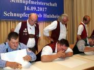 Huisheim: Schnupfer: Es zählt jedes tausendstel Gramm