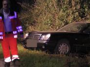 Mertingen: Autofahrer baut betrunken und ohne Führerschein einen Unfall