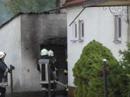 Oberndorf: Schuppen brennt lichterloh
