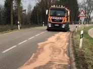 Genderkingen/Oberndorf/Bäumenheim: Öl sorgt für gefährliche Glätte auf Straßen