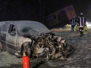 Region Augsburg: Viele Unfälle durch Glätte - B16 war für sieben Stunden gesperrt