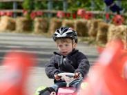 Bobbycarrennen in Hörmannsberg: Auf der Mülltonne zum Sieg