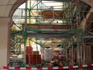 Sanierung in Friedberg: Auf der Schlossbaustelle wird's eng