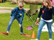 Merching: Spielplatzfest und Wasserrutsche