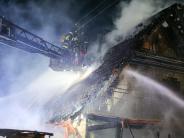 Leichte Sprache: Im Ort Kissing hat ein Wohn-Haus gebrannt