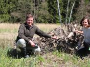 Naturschutz in Ried: Frösche sollen sich hier wohlfühlen