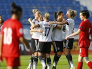 Fußball: DFB-Frauen mit makelloser Bilanz auf EM-Kurs